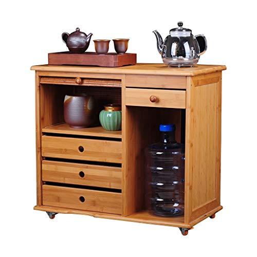 Salon Tables Armoire à thé Kung Fu Tea Set Locker armoire de stockage tasse tasse théière Tables basses (Color : Brown, Size : 63 * 33 * 57cm)
