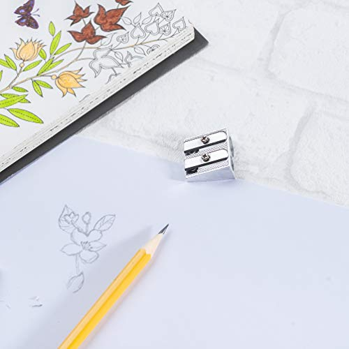 Mr. Pen Handheld Metal Pencil Sharpener with 2 Holes, Pack of 6 Photo #3