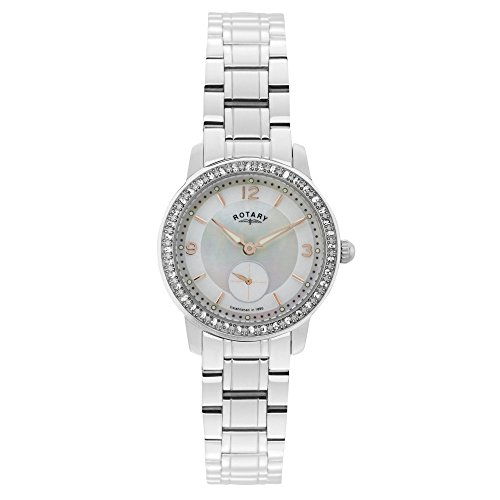 Rotary LB02700/41 - Reloj de Pulsera Mujer, Acero Inoxidable, Color Plateado