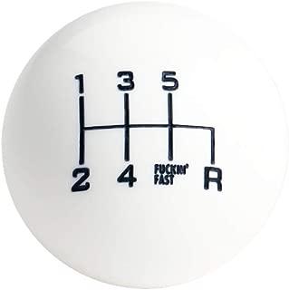 DEWHEL Fing Fast Shift Knob 6 Speed Short Throw Shifter M12x1.25 M10x1.5 M10x1.25 M8x1.25 (White)