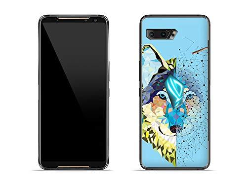 etuo Hülle für Asus ROG Phone 2 - Hülle Fantastic Hülle - Geometrischer Bunter Wolf Handyhülle Schutzhülle Etui Hülle Cover Tasche für Handy