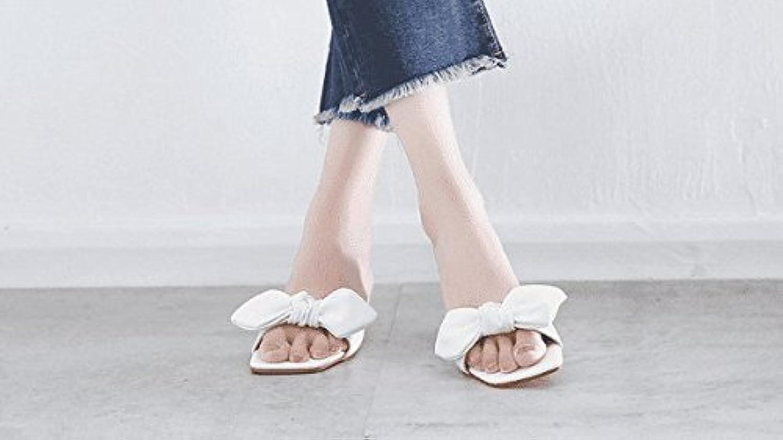 AWXJX Sommersaison Frauen Flip Flops High Heel Fein mit Wasserdicht Blaumen Wei 6 US 36 EU 3.5 UK