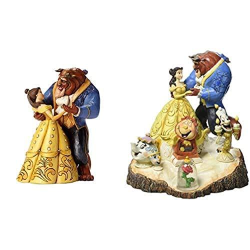 Disney Figura de Bella y Bestia Bailando de La Bella y la Bestia, Traditions, Resina, Multicolor, Enesco + Traditions Figurillas Decorativas con Diseño Tradition, Resina, Multicolor, 19 x 1.1 cm