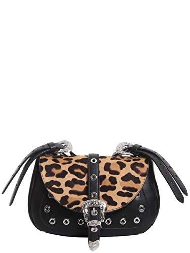 Luxury Fashion | Dsquared2 Dames PTW000134600652M1461 Zwart Leer Schoudertassen | Seizoen Outlet