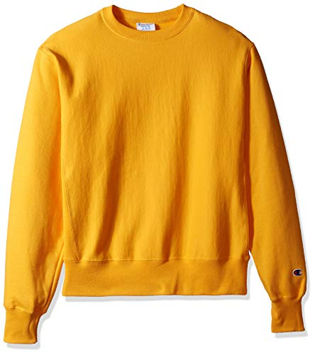 Champion LIFE Men's Reverse Weave Sweatshirt,team gold,SMALL