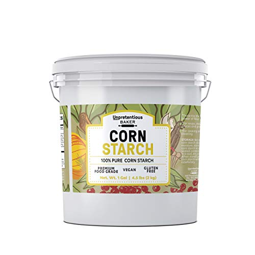 Corn Starch, 1 Gallon Bucket, 4.5 lbs. by Unpretentious Baker, High Quality & All-Natural, Thickening Agent, Natural Cleaning Powder, For Bulk Baking & Cleaning Use, Resealable Bucket