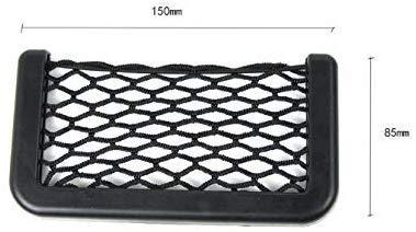 Weifengji Car Trunk Storage Net, 2 stuks Black Magic zelfklevend opbergnet elastisch snoer netje voor mobiele telefoon portemonnee sleutels kleine dingen 15 cm/5.70in X 8 cm/3.14in
