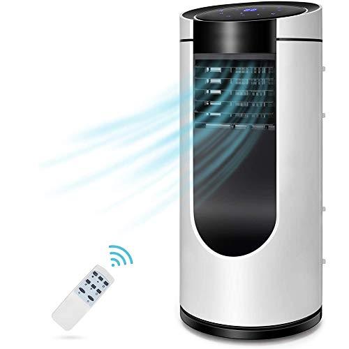 RPLW 3 En 1 Silencioso Personal Aire Acondicionado,10000 BTU Aire Acondicionado Portátil,Móvil Climatizador Evaporativo Pantalla LED,Mando A Distancia, A 35x35x79cm(14x14x31inch)