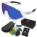 VICTGOAL Occhiali Protettivi Occhiali da Ciclismo per Uomo e Donna UV400 Protezione Solare...