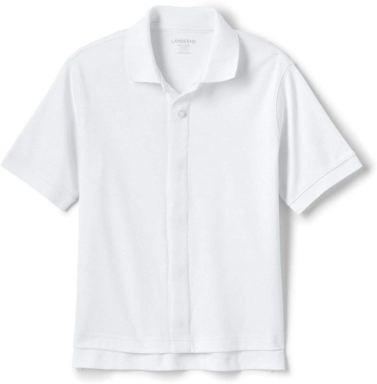 Lands' End School Uniform Little Kids Adaptive Short Sleeve Interlock Polo Shirt