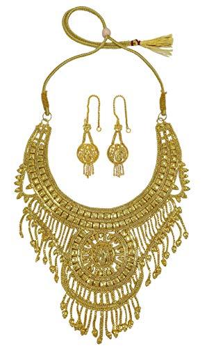 Banithani 18K Vergolden indische Hochzeit 2 PCS Halskette Set Frauen Schmuck