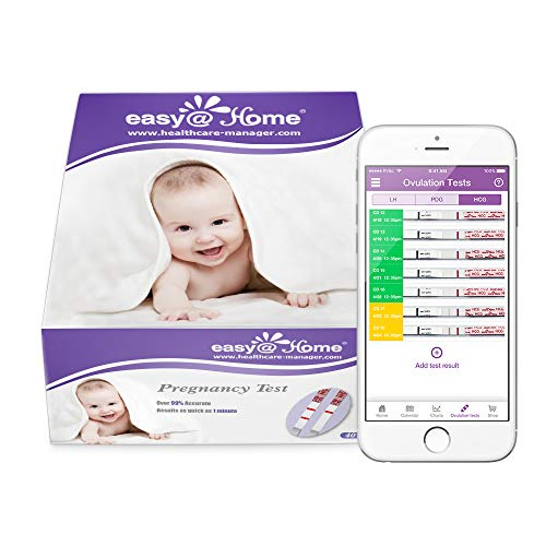 Easy@Home Pregnancy Test Strips, 40 HCG Tests