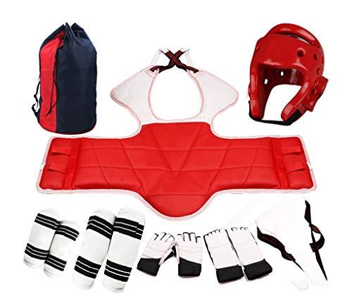 Yx-outdoor Equipo de protección de Cuerpo Completo de Taekwondo, Adecuado para Fitness, Boxeo, Karate, Sanda, Equipo de protección de Boxeo para niños, Conjunto de Ocho Piezas