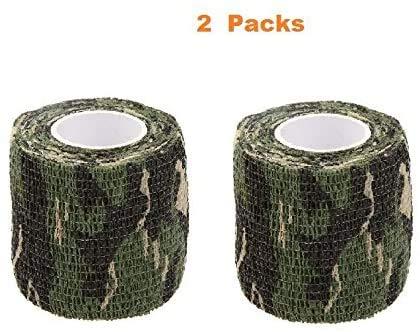 Lixada Tarnband selbsthaftend 5CMx4.5M Wiederverwendbare Wrap Camouflage für Jagd Camping Radfahren