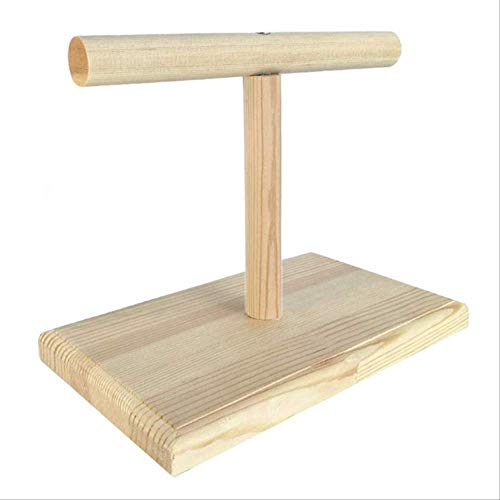 XYBB Ladder Draagbare Houten Vogel Papegaai Training Spin Perch Stand Speelplaats Platform Speelgoed Nieuw, As shown, Wood Color