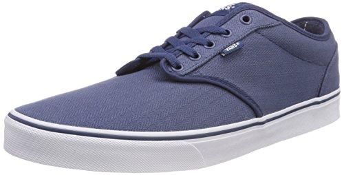 Vans Herren Atwood Textile Sneaker, Blau ((Herringbone Plaid) Dark Denim/White U0q), 39 EU