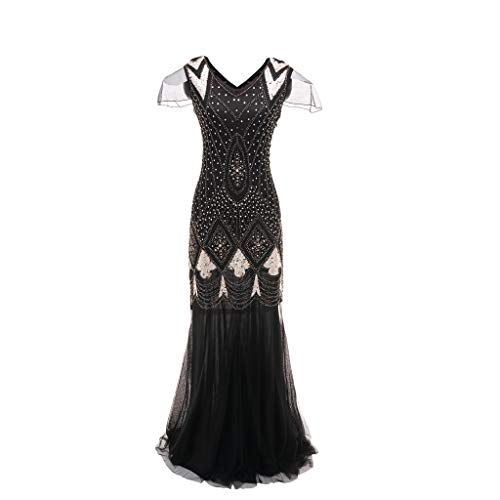 Great Features Of jin&Co Womens Flapper Dresses 1920s Gatsby Plus Size Vintage Flapper Fringe Bead...