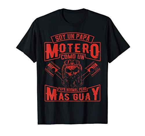 Hombre Soy Un Papá Motero Como Un Papá Normal Pero Más Camiseta