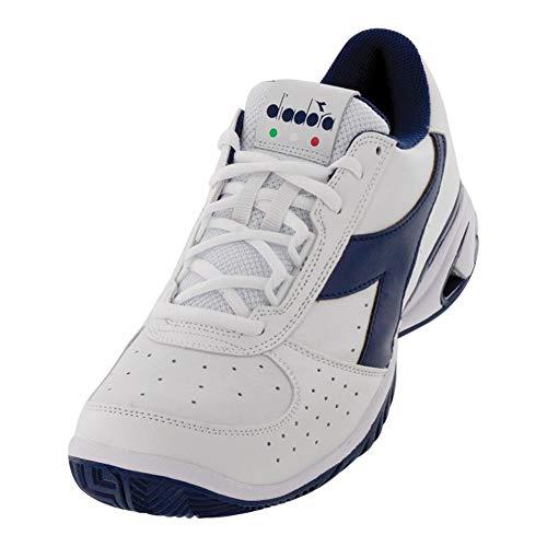 Diadora Men`s S Star K Elite AG Tennis Shoes White and Navy (10.5)