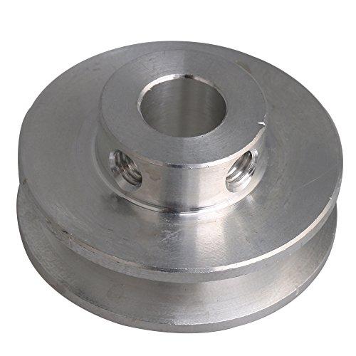 31x15x8 MM Silber Aluminiumlegierung Einzelnut 8 MM Feste Laufrolle für Motorwelle 3-5 MM PU Runde Gürtel