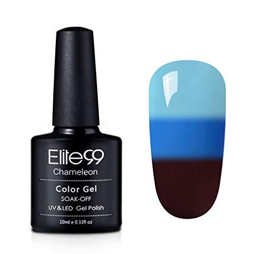 Elite99 Gel Nail Polish Color Changing Soak Off UV Gel Nail Lacquer Thermal Temperature Nail Art 4209
