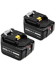 Basterマキタ 14.4v バッテリー bl1460b 6.0Ah マキタ互換バッテリー LED残量表示付き BL1430 BL1450 BL1460 BL1430B BL1440B BL1450Bに純正互換品対応 作業工具バッテリー 電池 2個セット