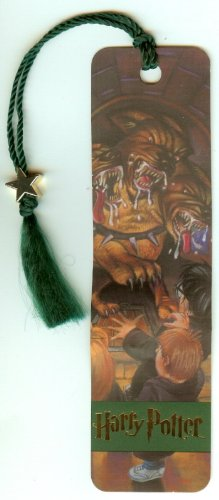 Harry Potter Bookmark Ron and Hermione Fluffy the 3 Headed Dog Chamber of Secrets 2000