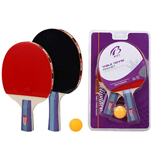 Learn More About HUATINGRHTT Table Tennis Ping Pong Paddle Table Tennis Balls Bats Shake Hands 2 Bat...