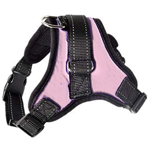 Arnés de alambre ajustable para perros y gatos con cinturón reflectante y transpirable, para perros pequeños y grandes suministros para mascotas
