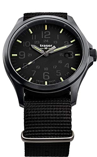 Traser H3 P67 Officer Pro Black Tactical Watch Militär Armbanduhr NATO Armband