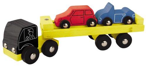 Heros 100027842 - Holz Auto-Transporter, 3-teilig