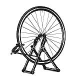 Greensen Soporte de Suelo para Bicicleta, Plegable Soporte de Alineación de Bicicleta Aparcamiento para Bicicleta Plegable y Portátil - Lite Centraruotas Base de Mantenimiento