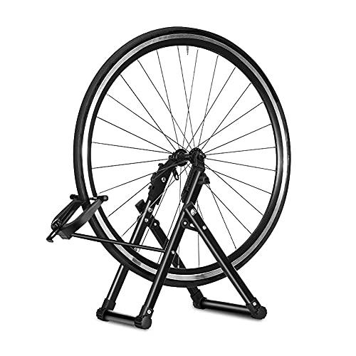 Greensen Zentrierständer Fahrrad, Fahrradmontageständer Fahrrad Reparaturständer Rad Zentrierständer Wartung Fahrradzubehörteile Rad Kickhalterträger Zentrierwerkzeuge Halterung für Fahrrad-Räder