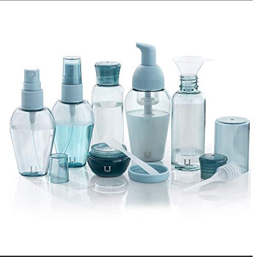 QLHYSYS 6 Envases Impermeables Bolsa De CosméTicos, Equipaje De Mano Transporte De LíQuidos En El AvióN, Botella Set De V Iaje Hombre, Mujer