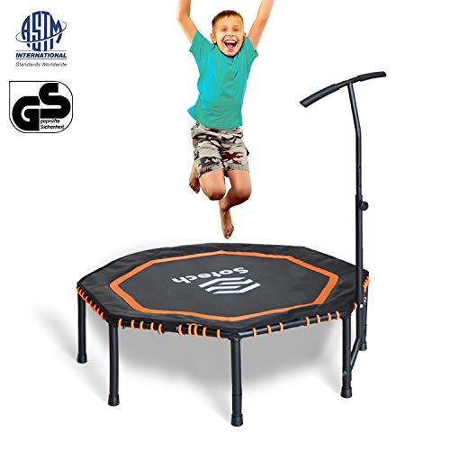 Leogreen Unisex's SK024371 Mini Fitness trampoline, zwart/oranje, 88 x 48 x 14 cm (34.6 x 18.9 x 5.5 inch)