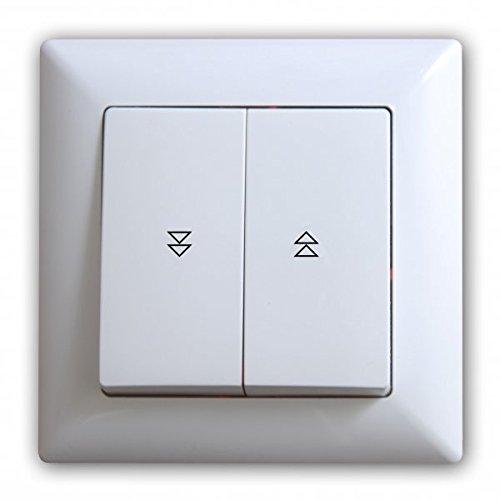Interruptor para persiana enrollable, pulsador, color blanco
