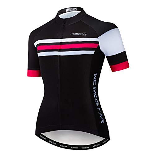 Maillot de ciclismo para mujer, ropa de bicicleta de montaña de verano de manga corta de montar camisetas de ciclismo de secado rápido MTB