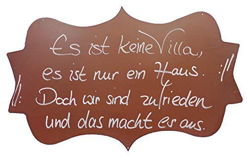 Rostikal | Rost Spruchtafel Haus | Dekoschild zum Hängen aus Metall in Edelrost | 50 x 30 cm