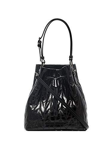 miu miu Luxury Fashion Donna 5BE0432D6CF0002 Nero Pelle Borsa A Mano | Primavera-estate 20