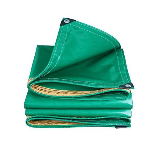 MZ Ultraleichtes LKW-Tuch-Plane, Oxford-Markise-Regen-Tuch, Wasserdichtes Auto-Sonnenschutz-Sonnenschutz-Dreirad-Segeltuch (Farbe : Green, größe : 4mx5m)