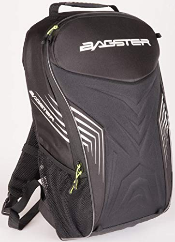Bagster Motorrad-Rucksack RAC'R, Schwarz / Weiß