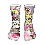 Short Socks Men & Women Crew Socks Butterfly Kitten Winter Warm Casual Sports Socks