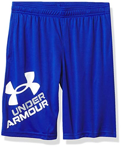 Under Armour Kids Boys' Prototype 2.0 Logo Shorts, Royal/White, LG (14-16 Big Kids)
