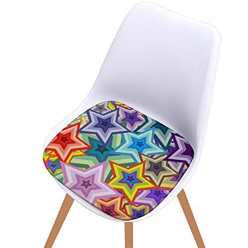 JONJUMP Cojín de asiento impreso digital antideslizante de algodón al aire libre restaurante jardín cojín de lino primo almohada silla de oficina