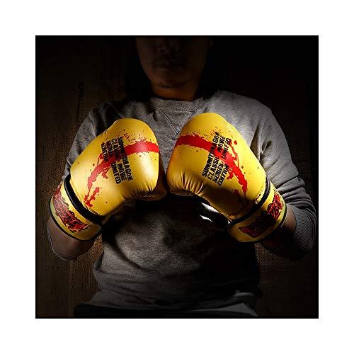 Diasdaisda Hitzebeständige Handschuhe Handschuhe männlich und weiblich weiblich Erwachsene Boxhandschuhe Sanda Boxsack Trainingshandschuhe Arbeitshandschuhe (Farbe : Yellow, Größe : 10oz)