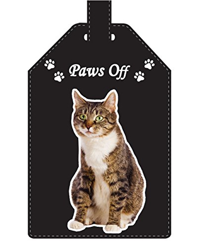 Tabby and White Cat Luggage Tag