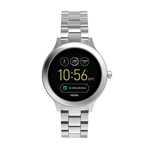 Fossil Q Women's Gen 3 Venture Stainless Steel Smartwatch, Color: Silver-Tone (Model: FTW6003)
