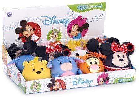 Disney Squeezster Bag Clip 9cm Schlüsselanhänger | Kuscheltier | Plüschtier | Geschenk für Kinder | Mädchen | Jungen | Spielzeug | Schultasche | Winnie Pooh | Mickey | Minnie | Tigger | Ia | Cat |