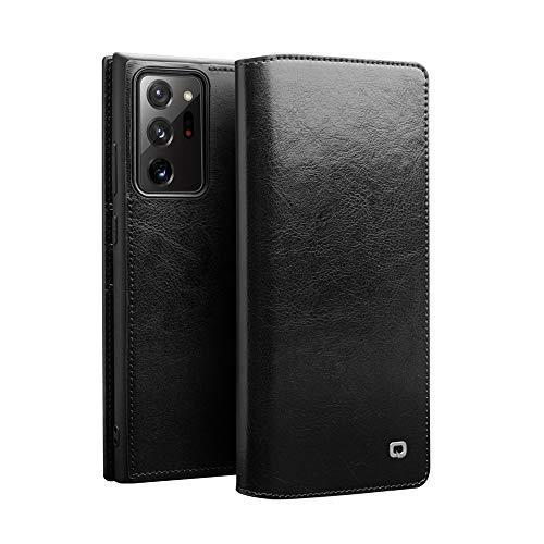 【DINGXIN 厳選品】 Samsung Galaxy Note20 Ultra 5G ケース 手帳型 最高級 本革(牛革) 100%手作り ベルト/マグネット フラップ なし [ ギャラクシーノート20 ウルトラ au SCG06 対応 ] レザー 手