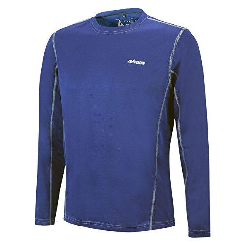 Airtracks T-shirt de course fonctionnel Pro Air à manches longues - Respirant - Séchage rapide. XXXL bleu